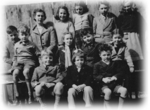 Mrs Jennings and school children