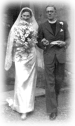 Alison Aste's wedding to Kenneth Grayston, 1942