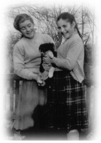 Lesley Chandler, Rosie Lane and Candy the puppy