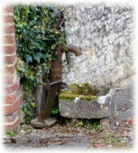 A pump installed by Herbert Parsons in the Manor yard